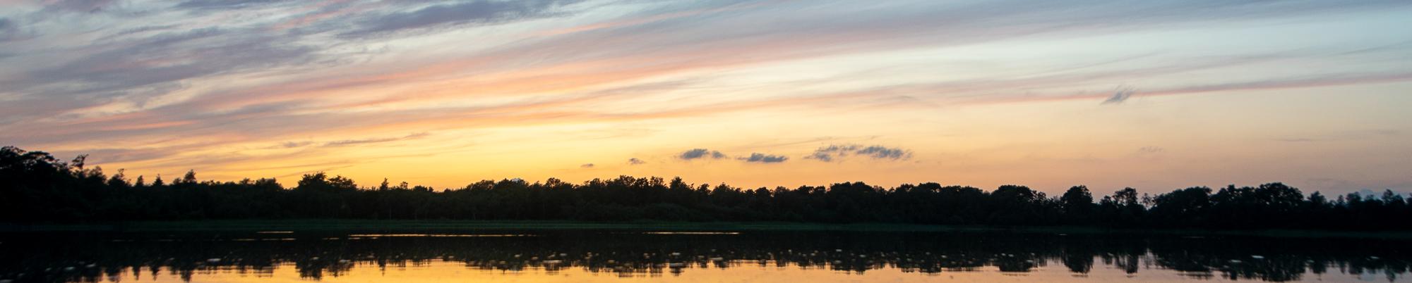 Banner Himmel über der Weser