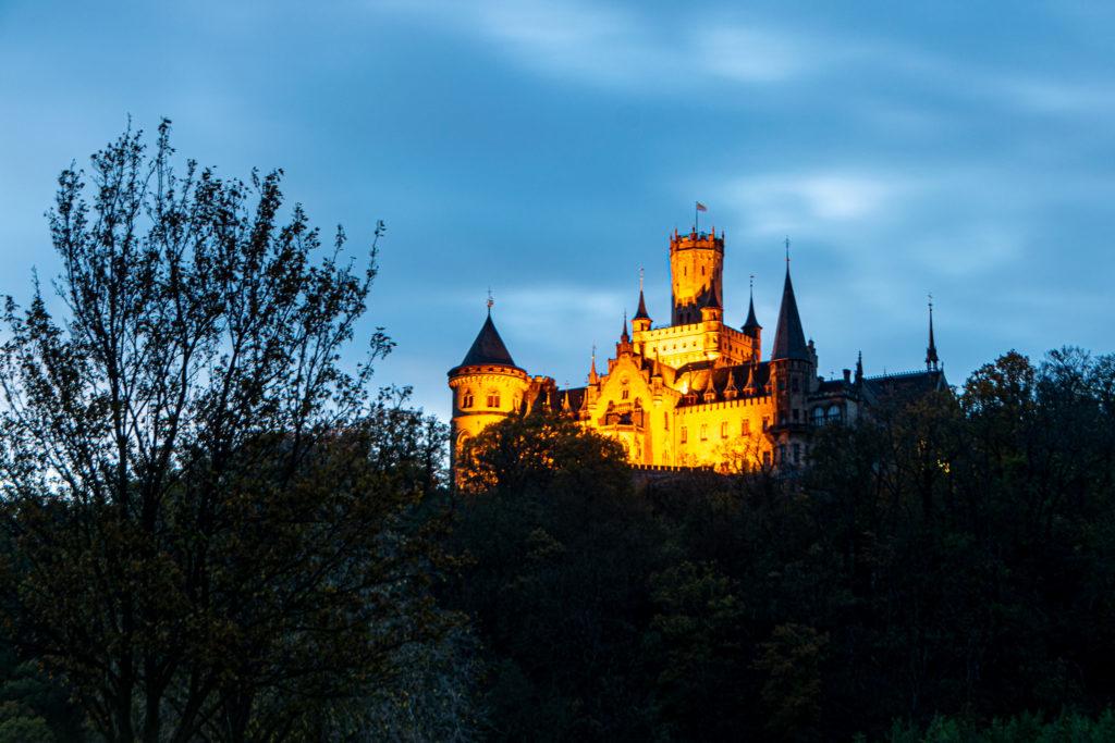 blaue Stunde Schloss Marienburg